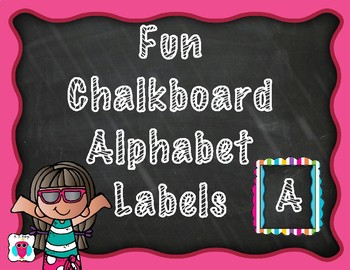 Cute Chalkboard Letter Labels