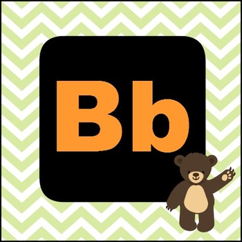 Cute Chevron ABC flashcards
