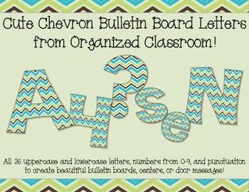 Cute Chevron Bulletin Board Letters