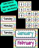 Cute Chevron Calendar Numbers, Days, and Months