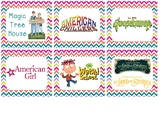 Cute Chevron Classroom Library Series/AR Level Labels Fit
