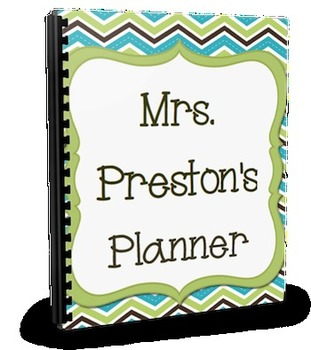 Cute Chevron Mini Teacher Planner Set