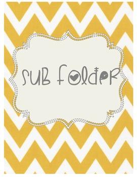 Cute Chevron Sub Folder Template