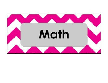 Cute Chevron Subject Labels for Classroom