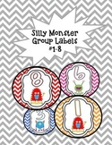 Cute Chevron and Monster Group Labels