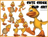 Cute Chick Clip Art - 10 Clipart Images OK for Commercial Use