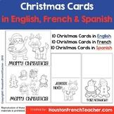 Cute Christmas Cards - English, French & Spanish - Joyeux Noël   Feliz Navidad