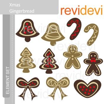 Gingerbread clip art, christmas clipart