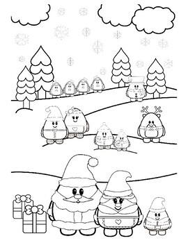 cute christmas coloring book / coloring sheets santa elf snowman  more