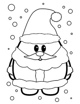 cute christmas coloring book coloring sheets santa elf snowman more