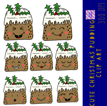 Cute Christmas Pudding Clip Art
