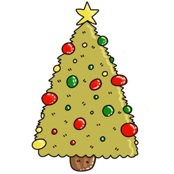 Cute Christmas Tree Clip Art