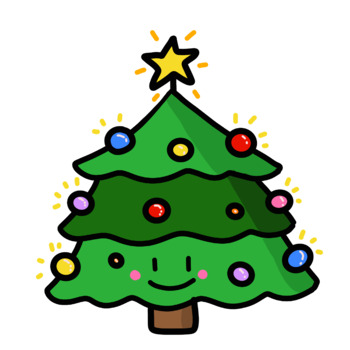 Cute Christmas Tree Clip Art