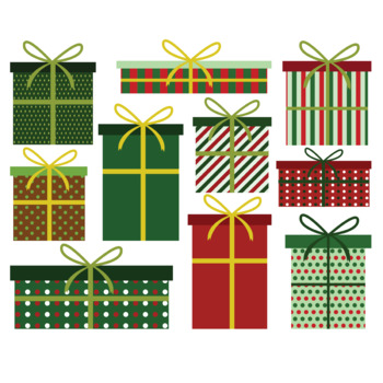 Cute Christmas presents clip art