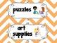 Classroom Labels {Cute Chunky Chevron }