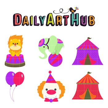 Cute Circus Staff Clip Art - Great for Art Class Projects!