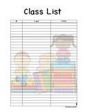 Cute Class List - 4 Versions