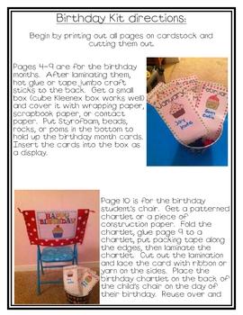 Cute Classroom Birthday Kit