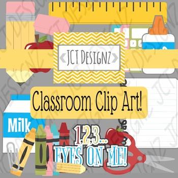 Cute Classroom Clip Art!