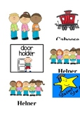 Cute Classroom Job Chart Icons