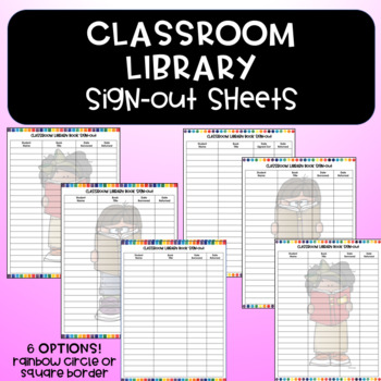 Cute Classroom Library Sign-out Sheets