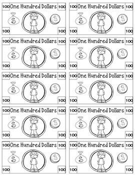 Cute Classroom Money - Rewards System/Incentives/Cash/Dollars