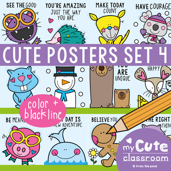 Cute Classroom Posters Set 4