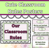 Cute Classroom Rules Posters