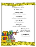 """Cute Classroom Rules Printable Handout- 6 Rules w/ """"I will"""