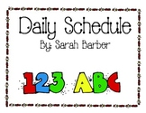 Cute Classroom Schedule Signs
