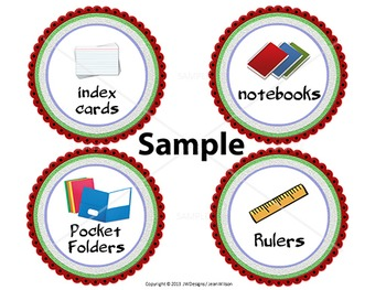 EDITABLE Classroom Supply Labels EDITABLE School Supply Labels