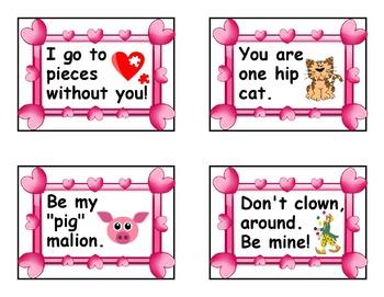 Cute Classroom Valentine Cards - 32 Printable Original Valentines