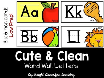 Cute & Clean Word Wall Letter Cards