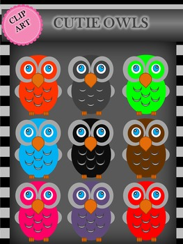 Clip Art:  Cutie Owls