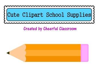School Supplies (Cute Clipart)