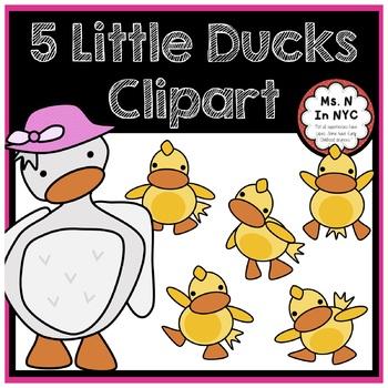 Cute Clipart for 5 Little Ducks Song