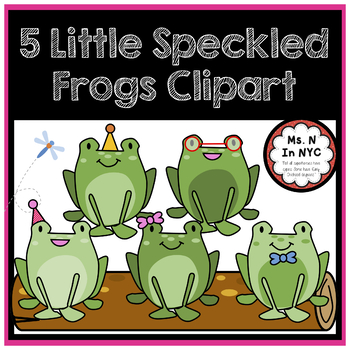 Cute Clipart for 5 Little Speckled Frogs Song