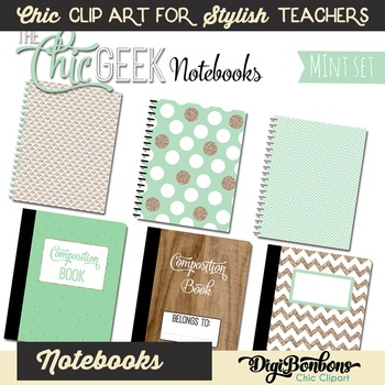 Cute Clipart of Notebooks: the Chic Geek