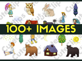 Clip Art 100+ Mega Bundle: Kids, Characters, Animals, AND