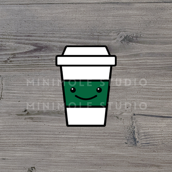 Cute Coffee Cup SVG PNG Clip Art Graphic