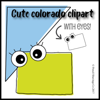 Cute Colorado Clipart with Eyes!