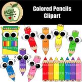Cute Colored Pencils Clipart