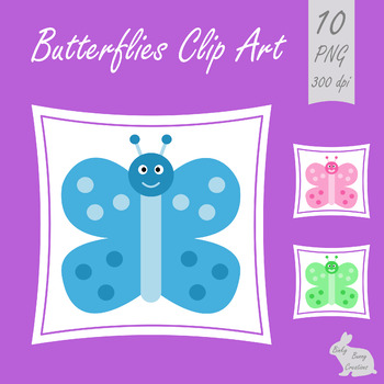 Colorful Butterflies Clip Art Clipart Garden Nature Science Bug Insect