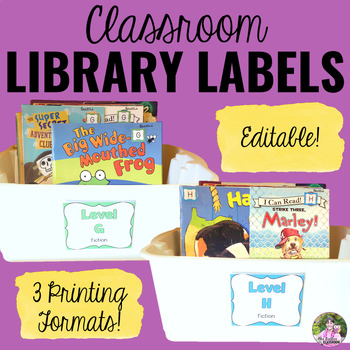 Classroom Library Labels - Color-Coded & Leveled