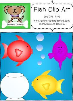 Cute Colorful Fish Clip Art