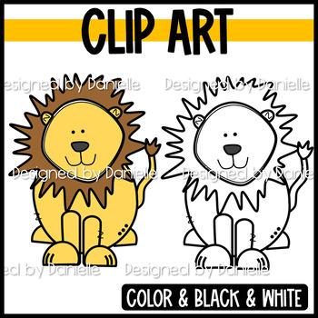 Cute & Colorful Lion Clip Art