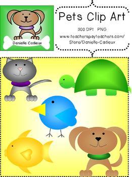 Cute Colorful Pets Clip Art