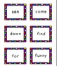 Cute Colorful Polka Dot Pre-Primer Dolch Flashcards