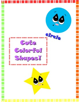 Cute Colorful Shapes Clip Art