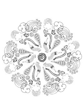 Cute Coloring Page Mandalas